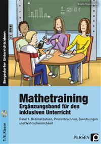 Mathetraining 7./8. Klasse Band 1 - Ergänzungsband