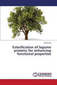 Esterification of Legume Proteins for Enhancing Functional Properties