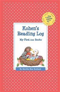 Kohen's Reading Log