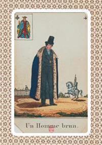 Carnet Ligné Cartomancie, Homme Brun, 18e Siècle
