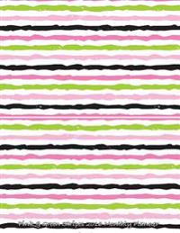 Pink & Green Stripes 2016 Monthly Planner