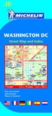 Michelin Map 10 Washington Dc