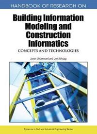 Handbook of Research on Building Information Modeling and Construction Informatics
