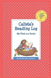 Calista's Reading Log