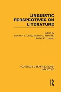 Linguistic Perspectives on Literature