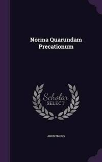 Norma Quarundam Precationum