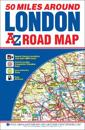 50 Miles Around London Road Map