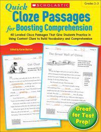 Quick Cloze Passages for Boosting Comprehension, Grades 2-3