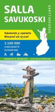 Salla-Savukoski ulkoilukartta 1:100 000