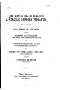 Qua Tenus Silius Italicus a Vergilio Pendere Videatur