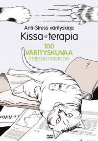 Anti-Stress värityskirja  Kissaterapia