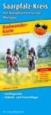 Saarpfalz-Kreis mit Biosphärenreservat Bliesgau 1 : 50 000 Radwanderkarte