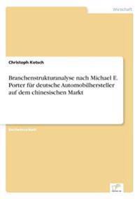 Branchenstrukturanalyse Nach Michael E. Porter Fur Deutsche Automobilhersteller Auf Dem Chinesischen Markt