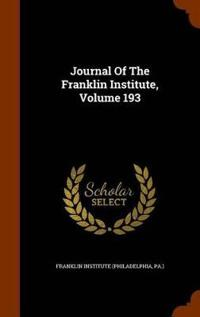 Journal of the Franklin Institute, Volume 193