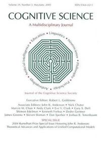 2004 Rumelhart Prize Special Issue Honoring John R. Anderson