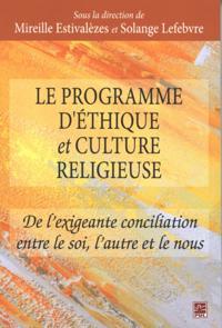 Le programme d'ethique et culture religieuse