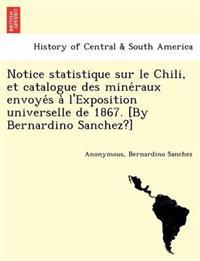 Notice Statistique Sur Le Chili, Et Catalogue Des Mine Raux Envoye S A L'Exposition Universelle de 1867. [By Bernardino Sanchez?]