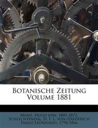 Botanische Zeitung, Neununddreissigster Jahrgang 1881