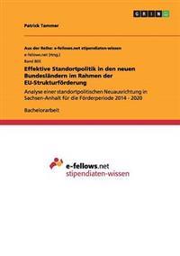Effektive Standortpolitik in Den Neuen Bundeslandern Im Rahmen Der Eu-Strukturforderung