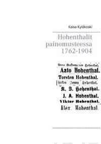 Hohenthalit painomusteessa 1762-1904