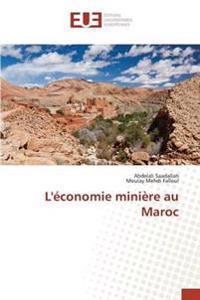 L'Economie Miniere Au Maroc