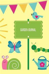 Garden Journal: Garden Gnome Cartoon Gardening Journal, Lined Journal, Diary Notebook 6 X 9, 180 Pages