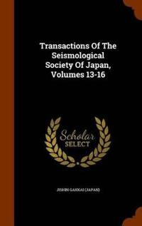 Transactions of the Seismological Society of Japan, Volumes 13-16