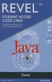 Revel for Deitel Java -- Access Card