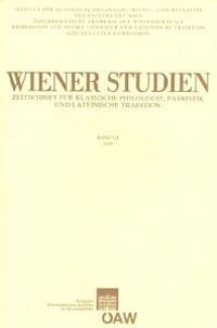 Wiener Studien. Zeitschrift Fur Klassische Philologie, Patristik Und Lateinische Tradition / Wiener Studien Band 121/2008: Zeitschrift Fur Klassische