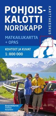 Pohjoiskalotti Nordkapp matkailukartta + opas, 1:800 000