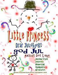 Little Princess Drar Julobjekt God Jul Anslut Dot Linje Använd Tryck Dekorera Minnessak Uppmuntra Kreativitet