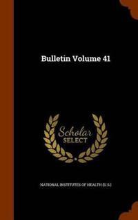 Bulletin Volume 41