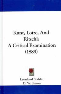 Kant, Lotze, and Ritschl