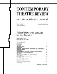Palestinians and Israelis in the Theatre
