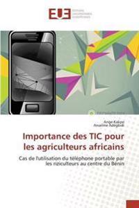 Importance Des Tic Pour Les Agriculteurs Africains