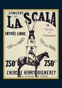 """Carnet Ligné Affiche La Scala l'Hercule"""""""""""