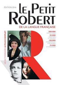 Le Petit Robert Dictionnaire 2016