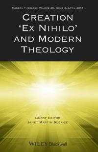 "Creation ""ex Nihilo"" and Modern Theology"