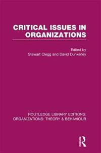 Critical Issues in Organizations
