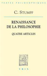 Carl Stumpf: Renaissance de La Philosophie: Quatre Articles