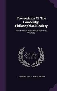 Proceedings of the Cambridge Philosophical Society