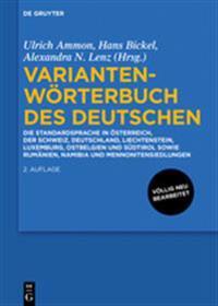 Variantenworterbuch Des Deutschen