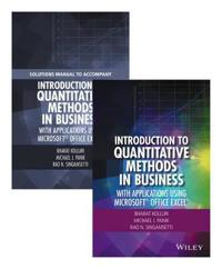 Introduction to Quantitative Methods in Business: With Applications Using Microsoft Office Excel Set