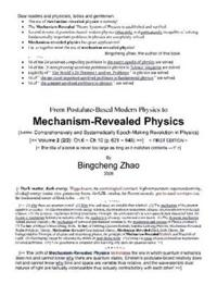 From Postulate-based Modern Physics to Mechanism-revealed Physics