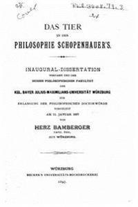 Das Tier in Der Philosophie Schopenhauer's