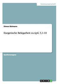 Exegetische Belegarbeit Zu Apg 3,1-10