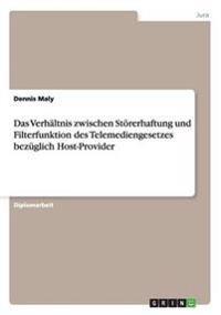 Das Verhaltnis Zwischen Stoererhaftung Und Filterfunktion Des Telemediengesetzes Bezuglich Host-Provider