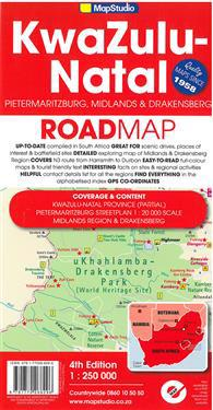 Road Map - KwaZulu-Natal: Pietermaritzburg, MidlandsDrakensberg
