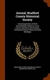 Annual, Bradford County Historical Society