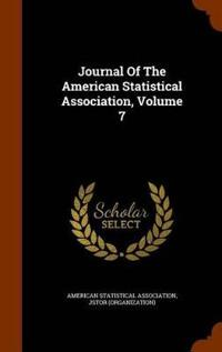 Journal of the American Statistical Association, Volume 7